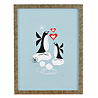 Framed Penguin Love Wall Art