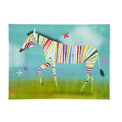 Rainbow Zebra Wall Art