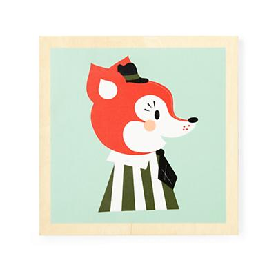 Wooden Animal Wall Art (Fox)