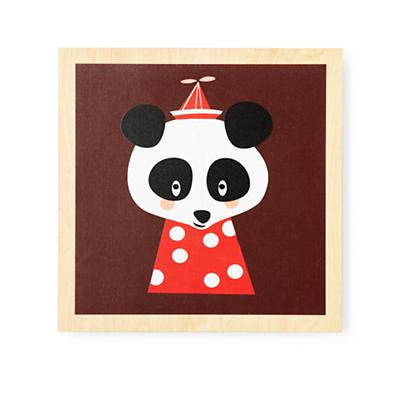 Wooden Animal Wall Art (Panda)