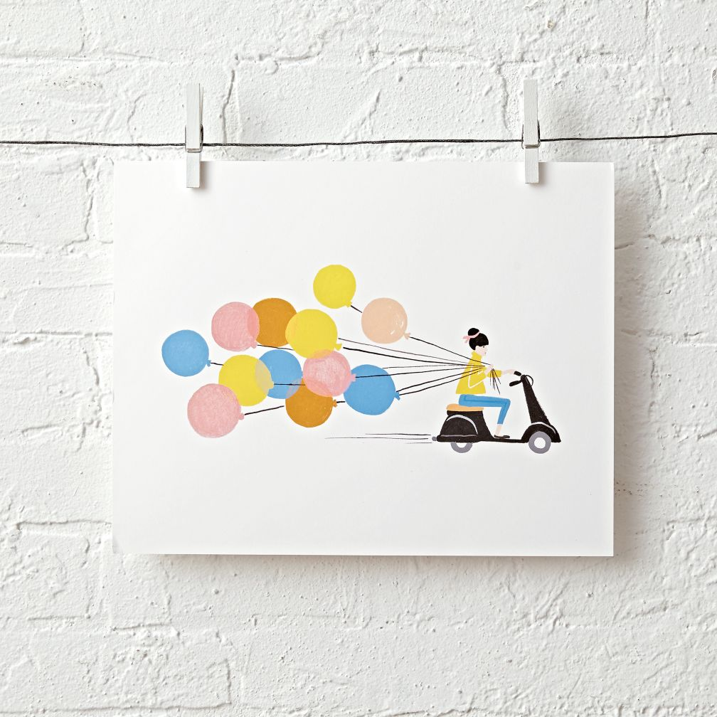 Rifle Paper Co. Balloons Unframed Wall Art