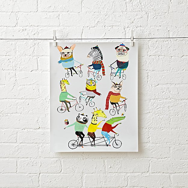 Bicycle Wall Art animal & bicycle wall art | the land of nod