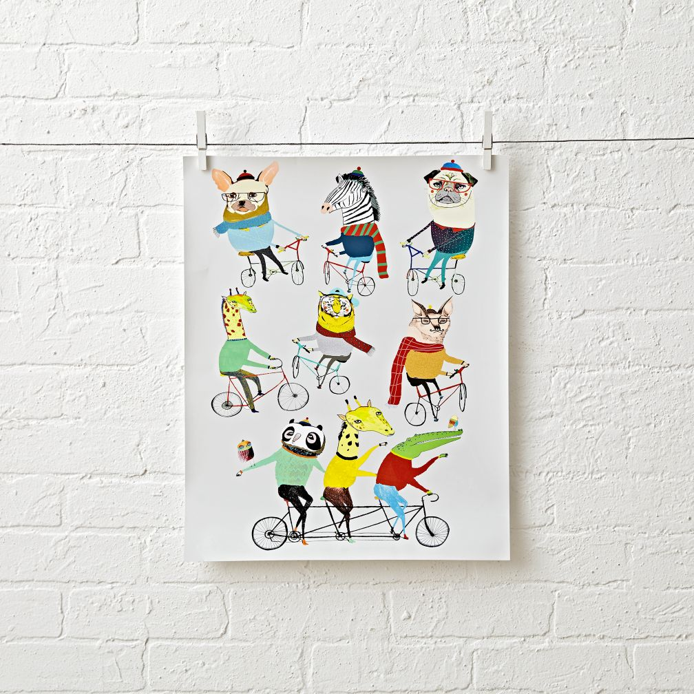 Bike Friends Unframed Wall Art