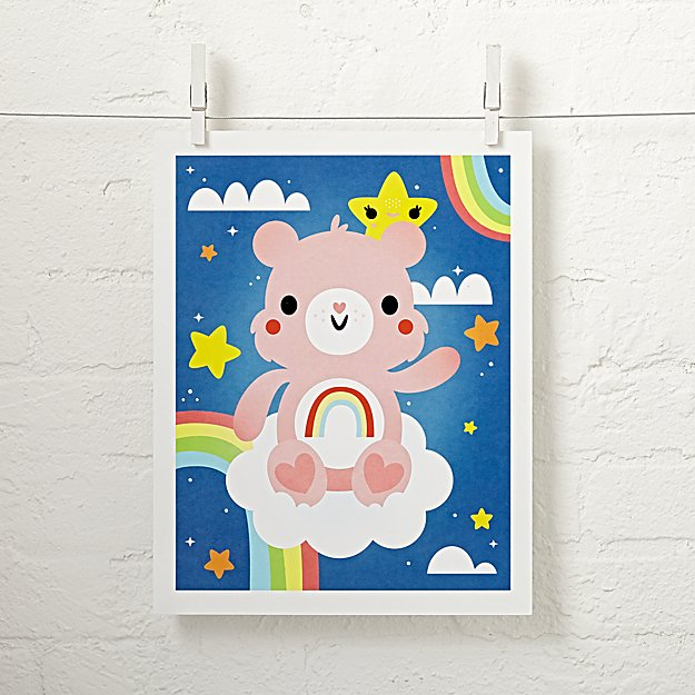 Care Bears Cheer Bear Unframed Wall Art