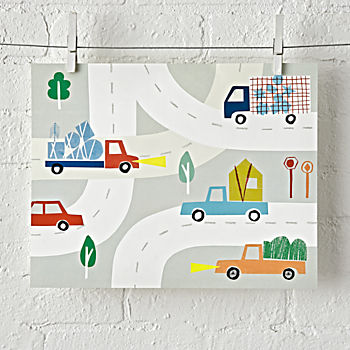 Car and Truck Unframed Wall Art