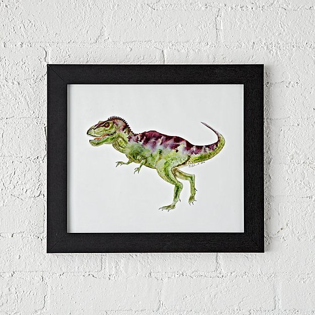 T-Rex Dinosaur Framed Wall Art