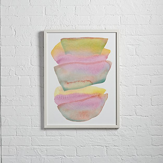 Stacked Watercolor Wall Art