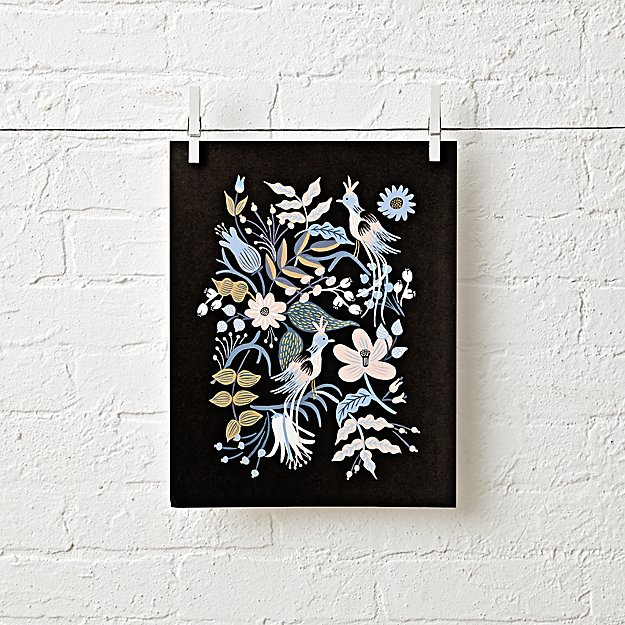 Rifle Paper Co. Feathered Folk Unframed Wall Art