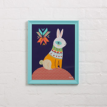 Folk Bunny Wall Art