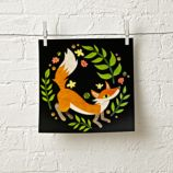 Fox in the Ferns Unframed Wall Art