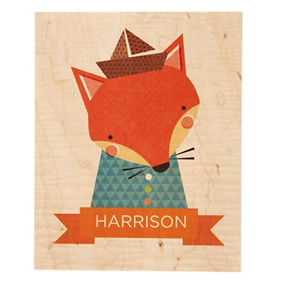 Young and Wild Personalized Art (Fox)