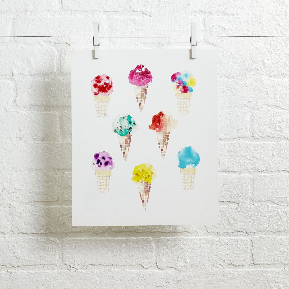 Ice Cream Cones Wall Art