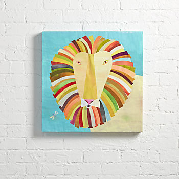 Lion Colorful Wall Art