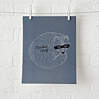 Masked Wolf Unframed Wall Art