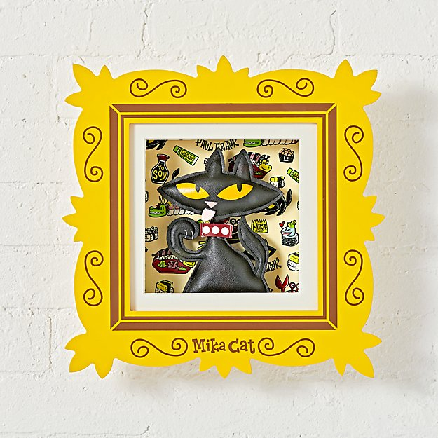 Paul Frank Framed Mika Cat Wall Art