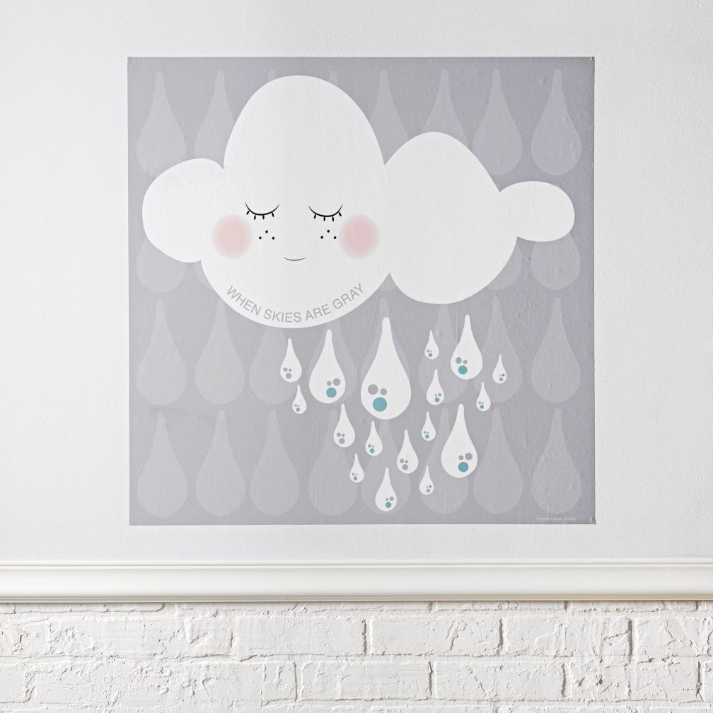Kids wall decals and stickers the land of nod when skies are grey poster decal amipublicfo Images