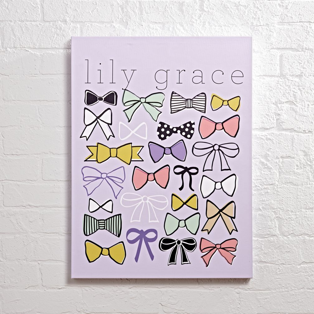 Personalized Wall Decor personalized rows of bows wall art | the land of nod