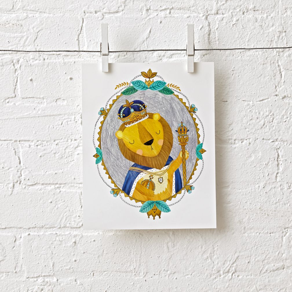 Lion Royalty Unframed Wall Art