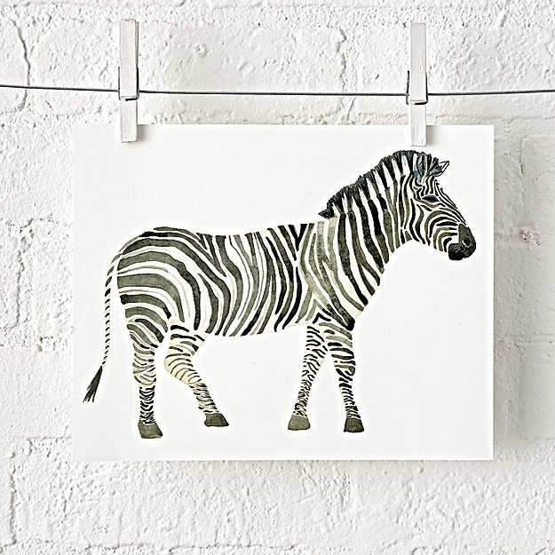 Zebra Safari Unframed Wall Art