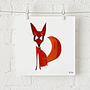 Fox Spirit Animal Unframed Wall Art