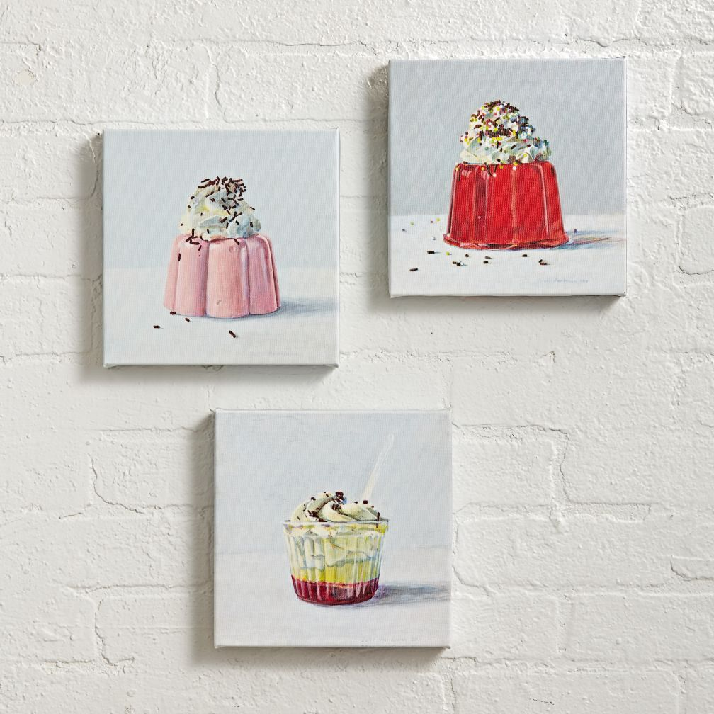 Sweet Treats Wall Art (Set of 3)