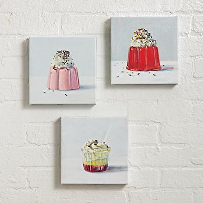 Set of 3 Sweet Treats Wall Art