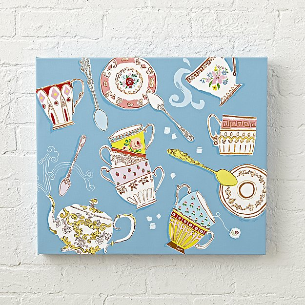 Teacups Wall Canvas Art