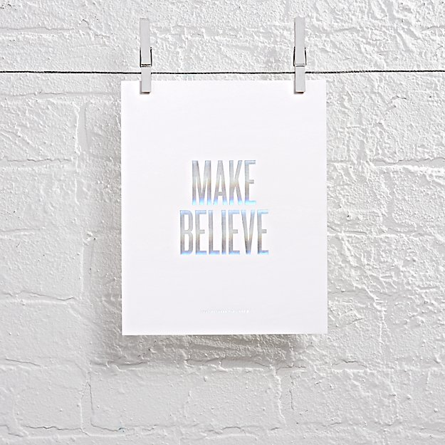 Make Believe Foil Stamped Wall Art