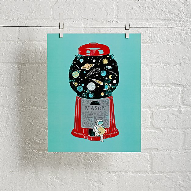 Unframed Childhood Universe Personalized Art