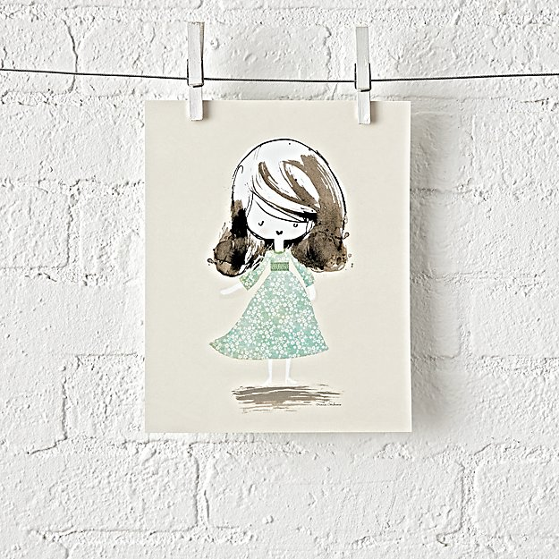 Vintage Sweetie Unframed Wall Art