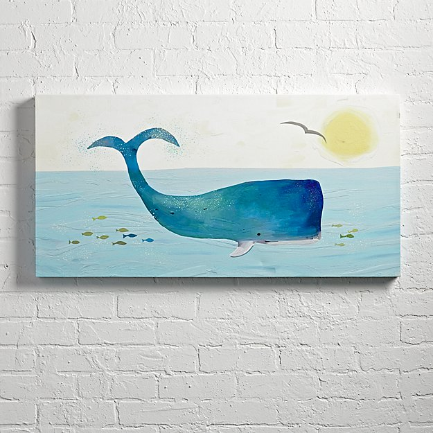Whale Wall Art whale wall art | the land of nod
