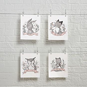 Whimsy Whimsical Wall Art (Set of 4)