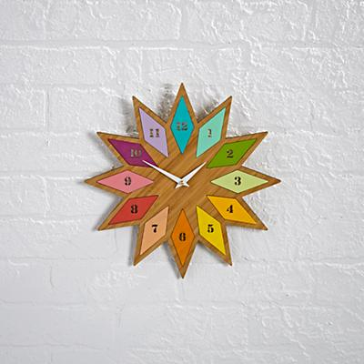 Chromatic Bamboo Wall Clock