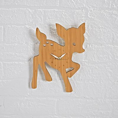 Fawn On Forest Time Wall Clock