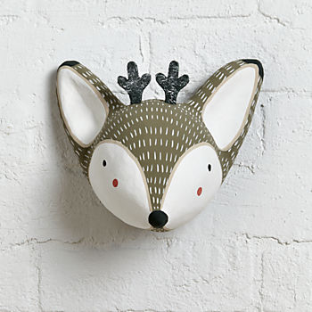 Animal Head Wall Decor faux animal heads: paper mache & stuffed | the land of nod