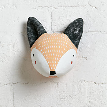Faux Animal Heads Paper Mache Amp Stuffed The Land Of Nod