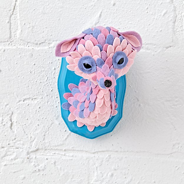 Animal Head Wall Decor felt faux animal head wall decor | the land of nod