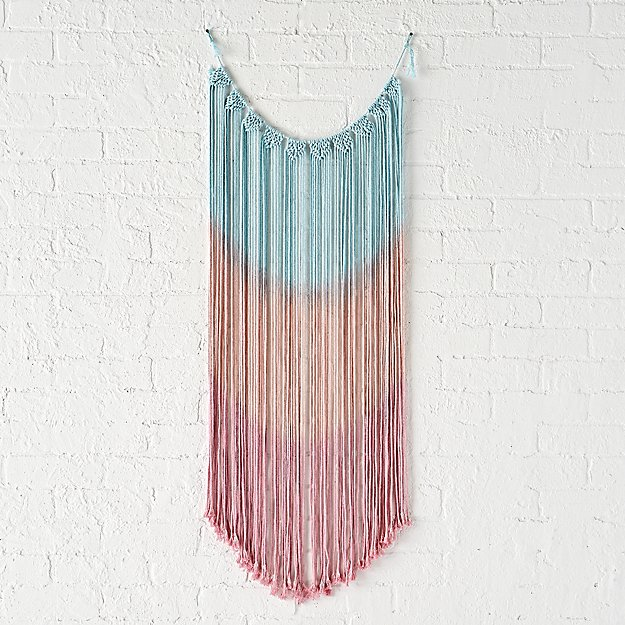 Pink and Blue Wall Hanging