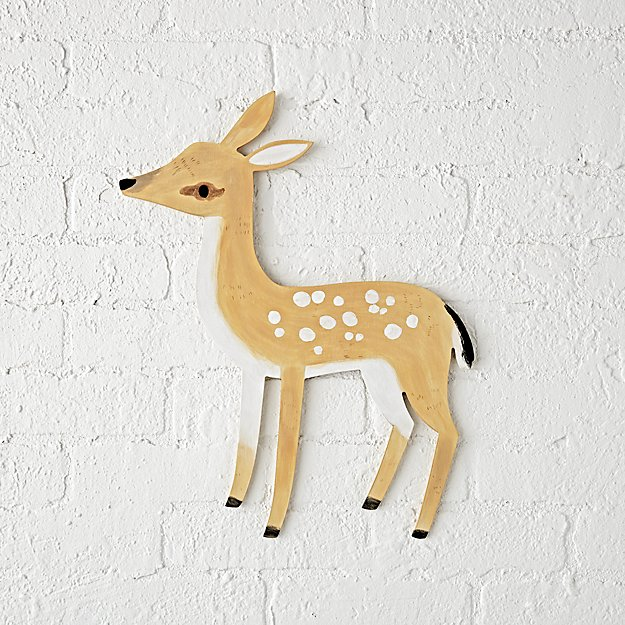 Wooden Deer Wall Decor