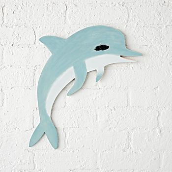 Wooden Dolphin Wall Decor