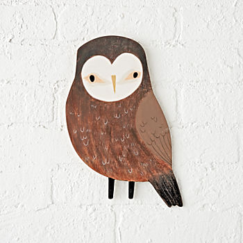 Wooden Owl Wall Decor