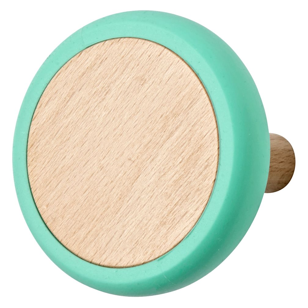 Teal Joystick Wall Knob