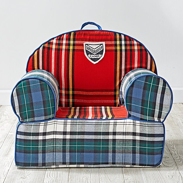 Large Northwoods Plaid Nod Chair