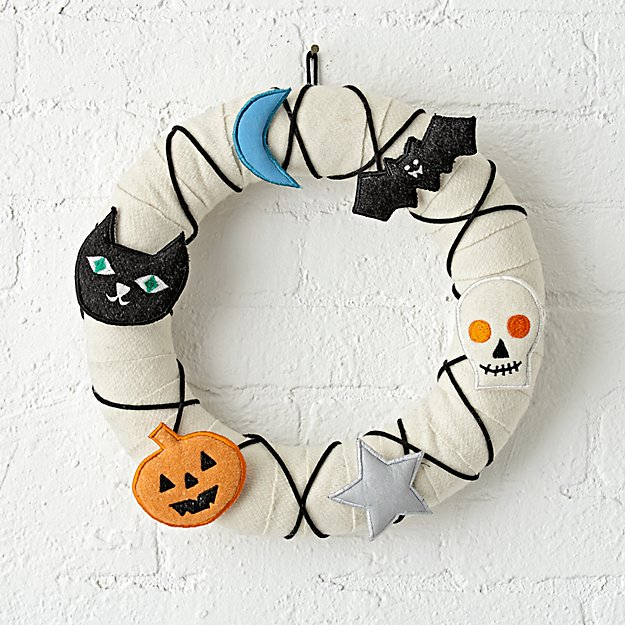 Not So Scary Halloween Wreath