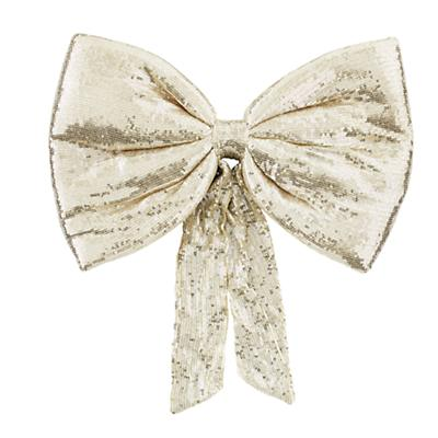 Giant Sequin Bow (Gold)