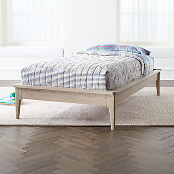 wrightwood grey stain platform bed