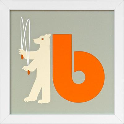 Not Your Usual Alphabet Framed Letter B