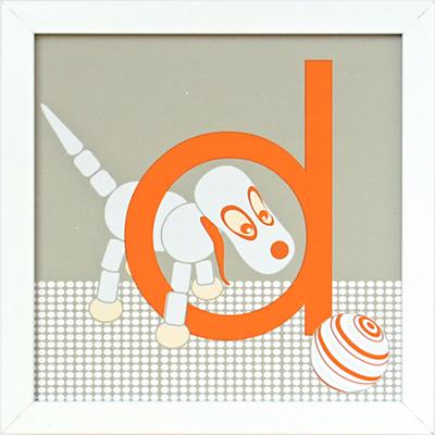 Not Your Usual Alphabet Framed Letter D