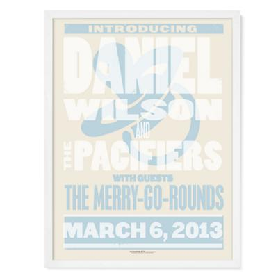 Band Poster Personalized Wall Art (Blue)