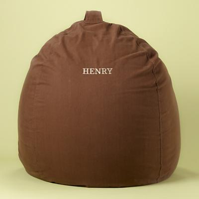 "40"" Personalized Chocolate Beanbag Cover Only"